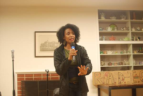 Venus Jones performs a few poems and later sings with First-Year Larri Mariola.