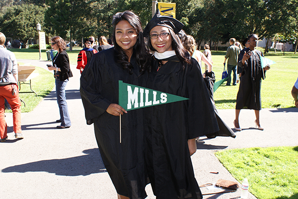 Bent Twigs: Campanil Mobile Reporter Alheli Cuenca and her sister and Mills alum, Dalia, pose for a photo.