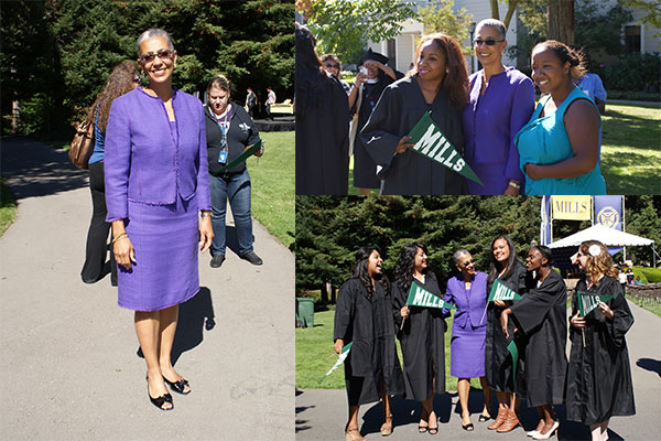 President DeCoudreaux stands tall her purple dress suit and black peep-toe slippers. (All photos taken by Melodie Miu)