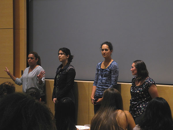 Left to right:  Elenor Castillo, Margaret Scampavia, Ilana Stein and Cindie Slightam.(Photo taken by Barbara Bowman.)