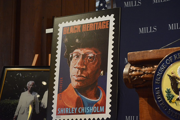 The stamp featuring the former Congresswoman Shirley Chisholm. (Jan Mac Ramos)
