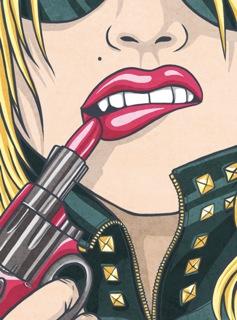 Lipstick Gun by sevsve from DeviantArt.