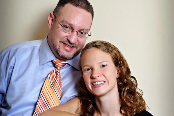 Brian Walker (left) with his daughter and Mills graduating senior, Brittne. (Photo courtesy of Brian Walker)