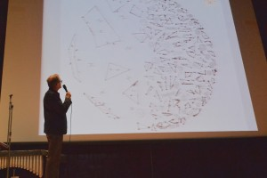 Rosenboom shows an example of some of his work with visual and spatial music composition.