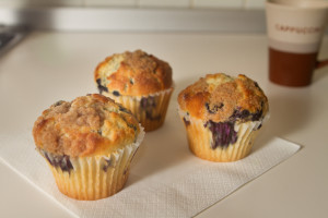 This simple blueberry muffin recipe can be altered to make it your own.